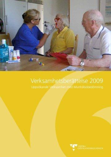 Verksamhetsberättelse 2009 - Västra Götalandsregionen