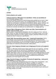 Kommunikation och samtal, pdf - Västra Götalandsregionen