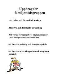 Familjearbete/barnperspektivet på Kungälvs sjukhus