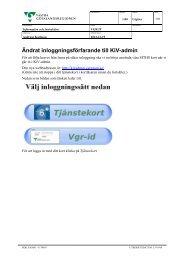 Ändrat inloggningsförfarande till KiV-admin