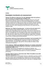 Delaktighet, bemötande och empowerment - Västra ...