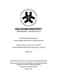 Patientutbildning enligt Akermetoden - Västra Götalandsregionen
