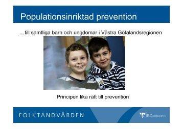 Populationsinriktad prevention - Västra Götalandsregionen