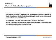 Formale Methoden: UML