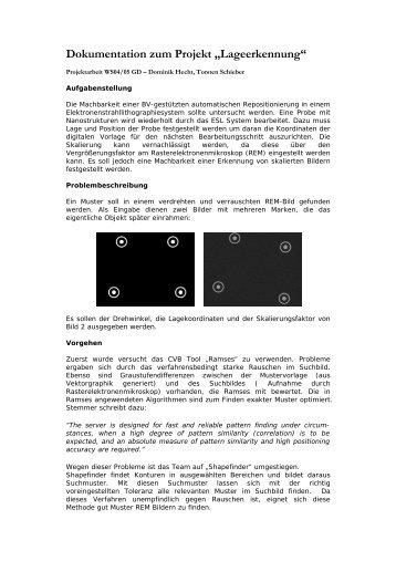 """Dokumentation zum Projekt """"Elektronische Bewerbung"""""""