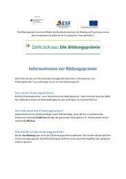 Informationen zur Bildungsprämie - VHS Würzburg