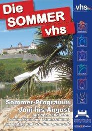 Sommer vhs 2013 - VHS Würzburg