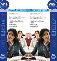 beruf aktuell_final.indd - VHS Würzburg