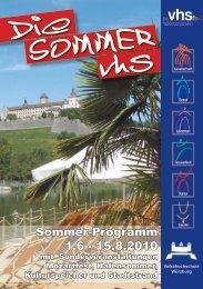 Die SOMMER vhs - VHS Würzburg