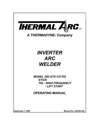 thermal arc 180 ac/dc thermal arc 220 ac/dc thermal arc