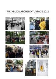 Rückblick Architekturtage 2012 - Bundeskammer der Architekten ...