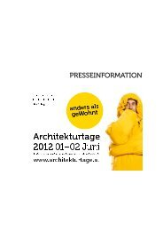 PRESSEINFORMATION - Bundeskammer der Architekten und ...