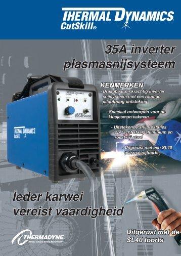 35A inverter plasmasnijsysteem Ieder karwei vereist vaardigheid