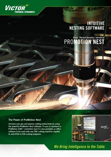 Promotion Nest Brochure - Victor Technologies - Europe