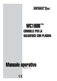 Wc100B™ manuale operativo - Victor Technologies - Europe