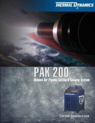 Pak 200 Sales Brochure - Victor Technologies - Europe