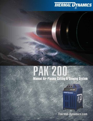 Pak 200 Sales Brochure - Victor Technologies - Europe