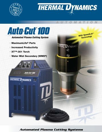 Auto-Cut 100 Sales Brochure - Victor Technologies - Europe