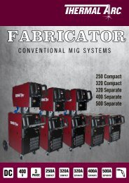 Fabricator Family Brochure - Victor Technologies - Europe