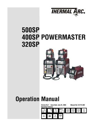 PowerMaster Operating Manual - Victor Technologies - Europe