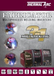 Fabricator Multiprocess Brochure - Victor Technologies - Europe