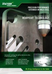 HeavyCut Flyer - Victor Technologies - Europe