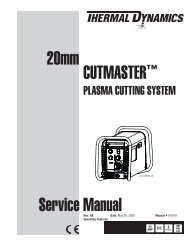 20mm CUTMASTER™ Service Manual - Victor Technologies - Europe