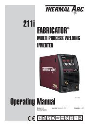 211i Operating Manual FabricatOr® - Victor Technologies - Europe