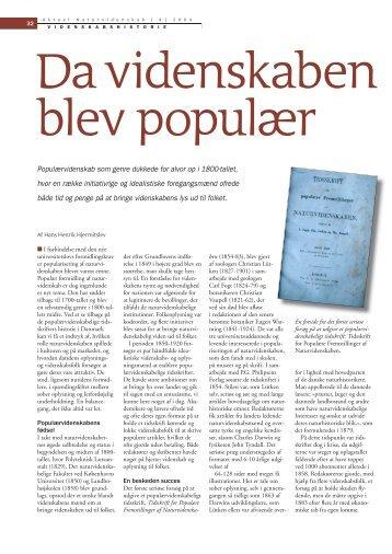 Populærvidenskab som genre dukkede for alvor op i ... - Viden (JP)