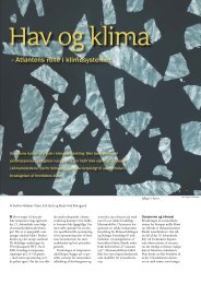 Hav og klima - Atlantens rolle i klimasystemet - DMI
