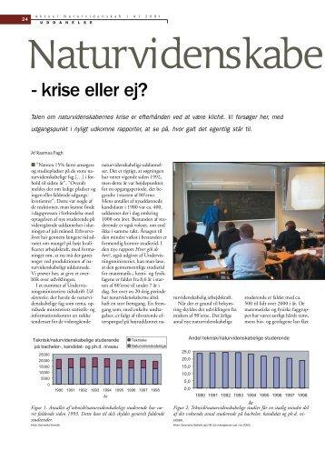 Naturvidenskabelige uddannelser - krise eller ej? - Viden (JP)