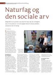 Naturfag og den sociale arv - Viden (JP)