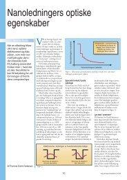 Nanoledningers optiske egenskaber - Viden (JP)