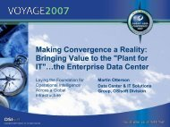 Making Convergence a Reality: Bringing Value to the ... - OSIsoft