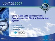 Using AMR Data to Improve the Operation of the Electric ... - OSIsoft
