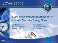 Corporate Implementation of PI in Bulk Manufacturing Sites - OSIsoft