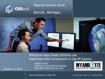 Regional Seminars - Template - OSIsoft