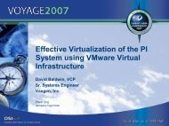 Effective Virtualization of the PI System using VMware ... - OSIsoft