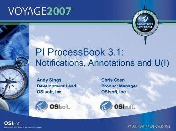 PI ProcessBook 3.1: - OSIsoft