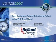 Early Equipment Failure Detection at Reliant Using PI ... - OSIsoft