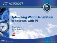 Optimizing Wind Generation Resources with PI - OSIsoft