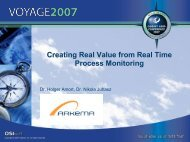 Creating Real Value from Real Time Process Monitoring ... - OSIsoft