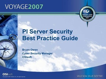 PI Server Security Best Practice Guide - OSIsoft