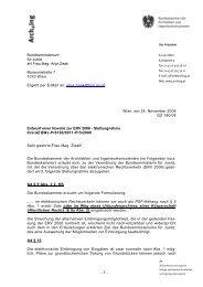 Elektronischer Rechtsverkehr (ERV 2006) - Bundeskammer der ...