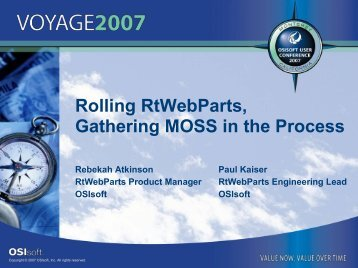 What is RtWebParts? - OSIsoft
