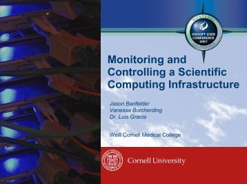 Monitoring and Controlling a Scientific Computing ... - OSIsoft