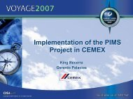 Implementation of the PIMS Project in CEMEX ... - OSIsoft