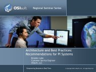 Architecture and Best Practices: Recommendations for PI ... - OSIsoft
