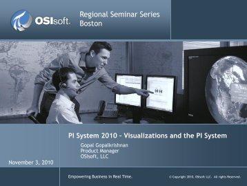 PI System 2010 - OSIsoft