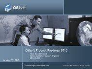 OSIsoft Product Roadmap 2010